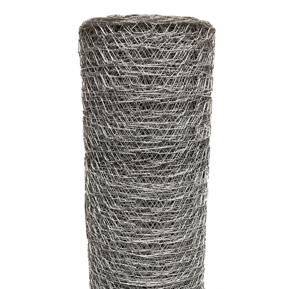 Acorn International Acorn 1 In X 3 Ft X 50 Ft Poultry Netting Pn13650 Mesh Fencing Galvanized Galvanized Steel