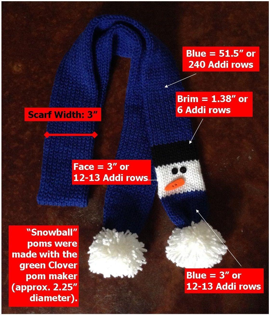 Sheepishlysharing Files Wordpress Com 2013 10 Snowman Measurements1 Jpg Addi Knitting Machine Snowman Scarf Knitting Machine Patterns