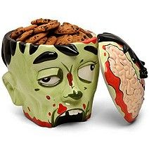 How To Decorate A Cookie Jar Zombie Head Cookie Jar Makes You A Brain Eater  Cookie Jars