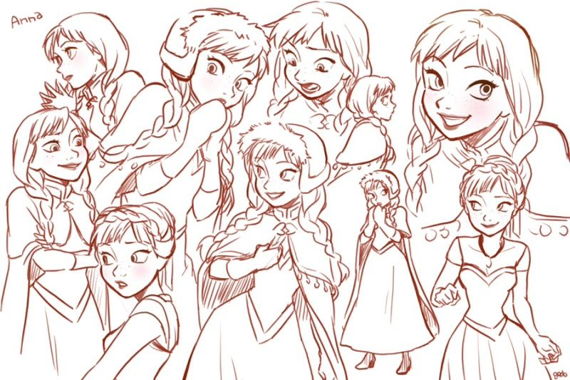dessin Anna & Elsa - Recherche Google
