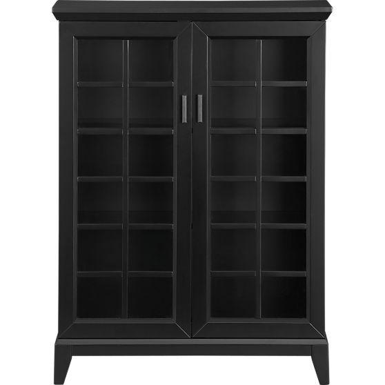 Black Two-Door Storage Cabinet