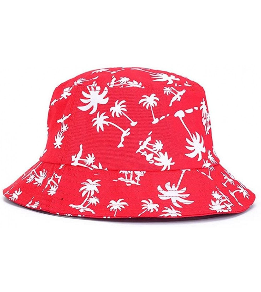 Tropical Coconut Palm Tree Printed Bucket Hat Beach Vocation Sunhat Cap Red Cy17xe68mwn In 2021 Fishing Hat Sun Hats Bucket Hat Women