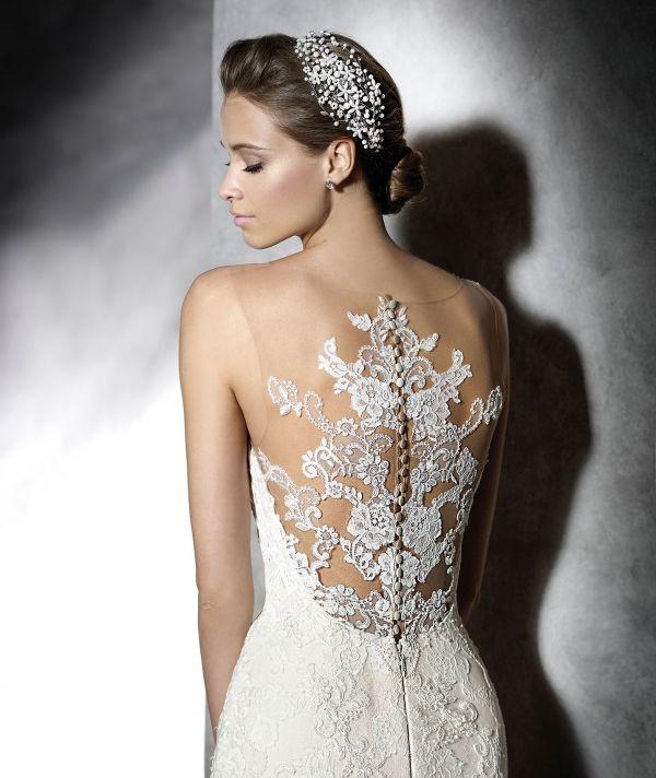 Vestidos de novia transparentes cortos