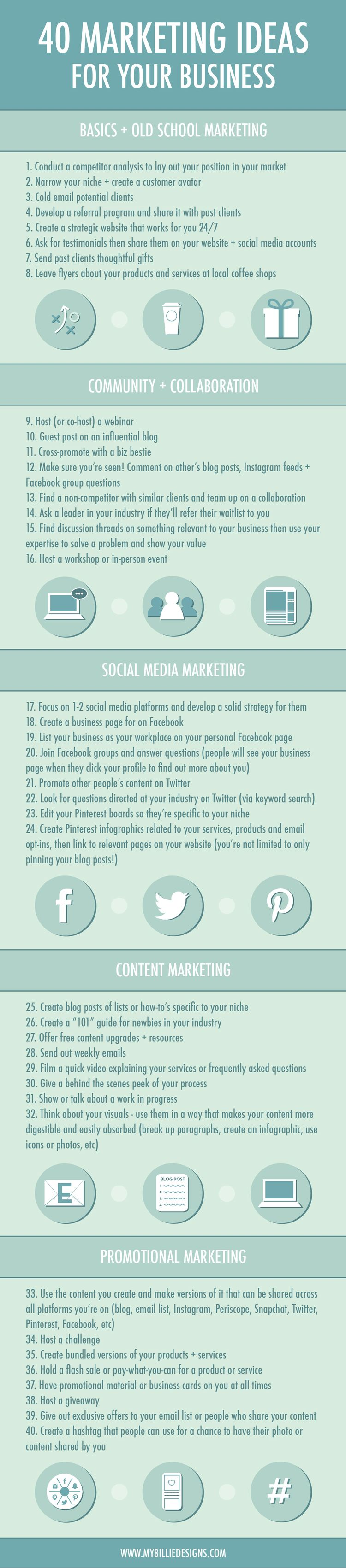 Marketing Ideas For Your Business Infographic  Marketing