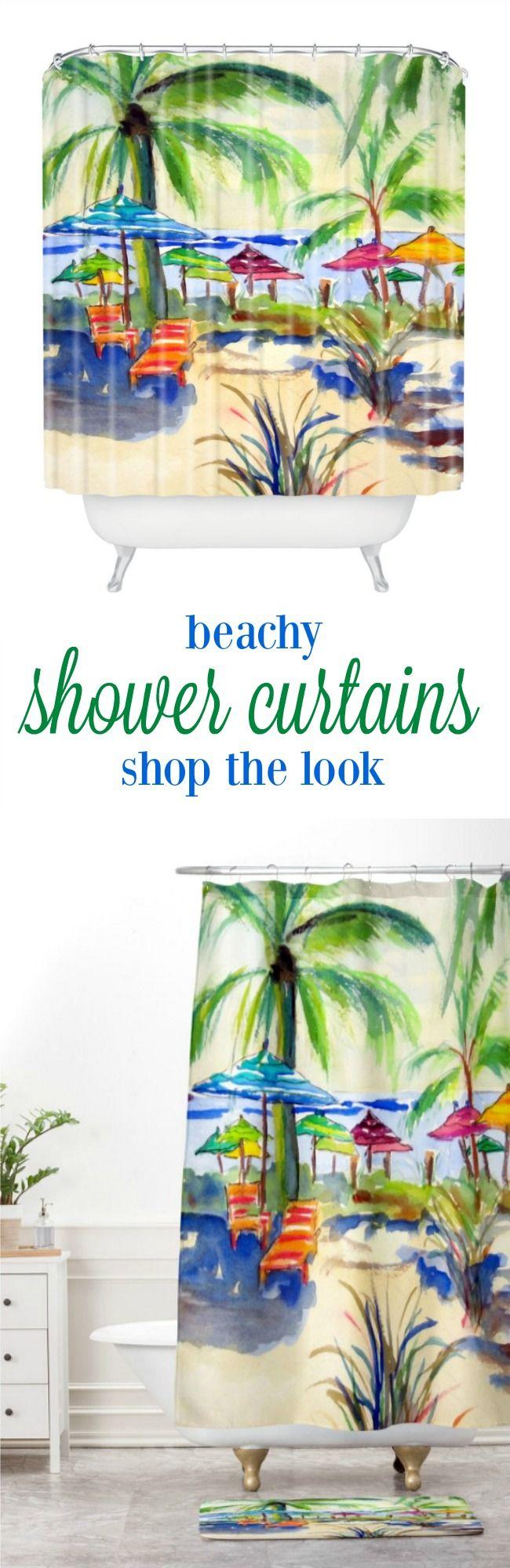 Beachy shower curtains - Beachy Shower Curtains 53