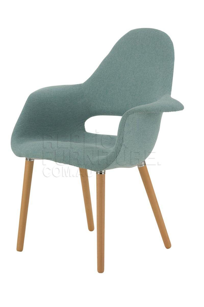 Replica organic chair padded retro dining chair furniture