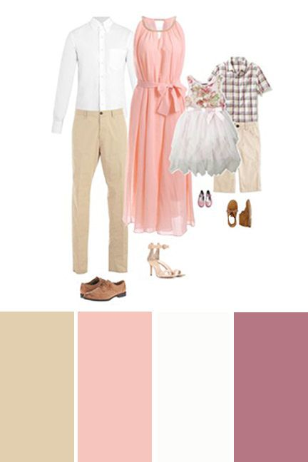 What to Wear for Beach Family Photos - light and airy colors.
