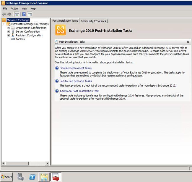 Установка Exchange 2010: как заполучить собственный домен?