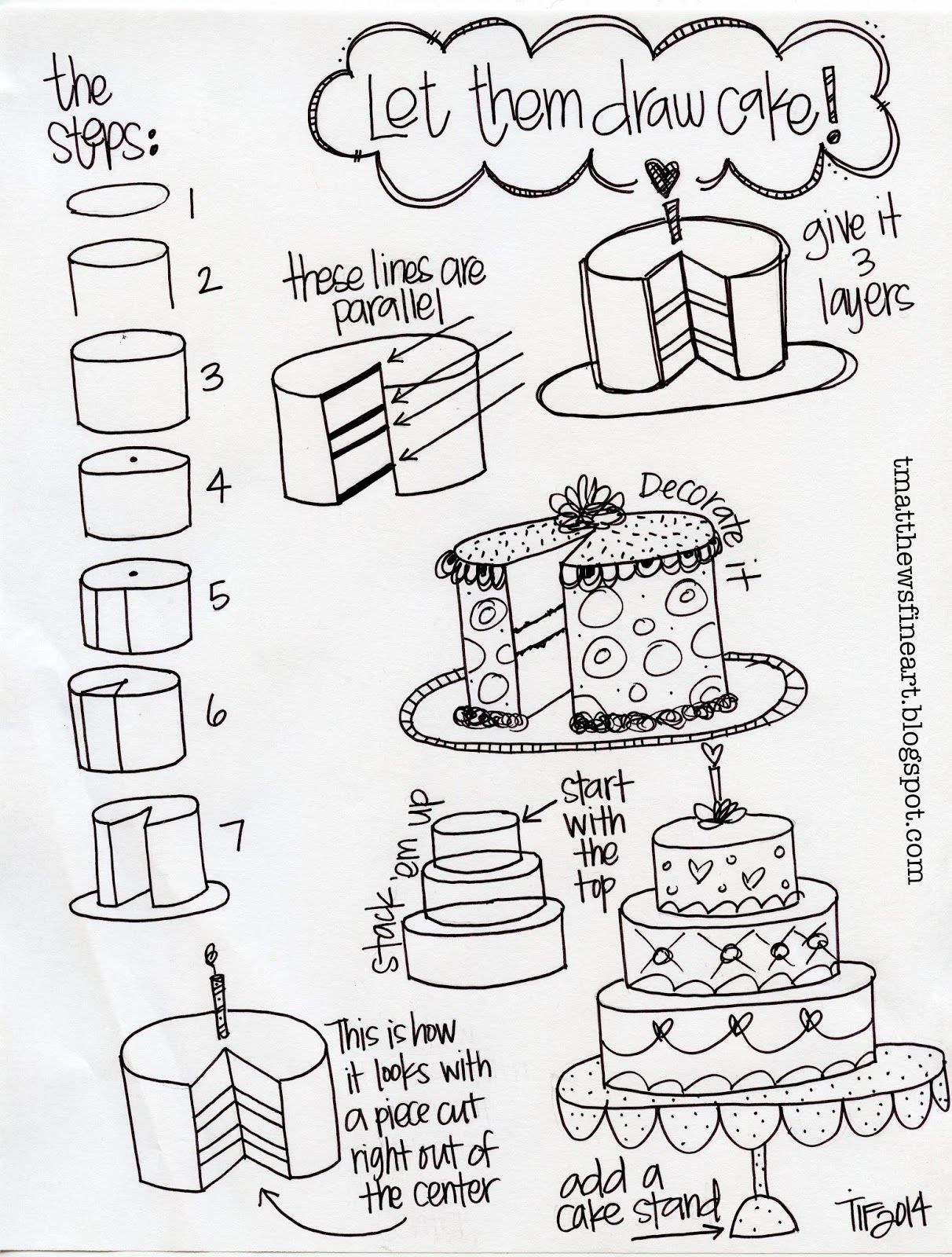 Tangle Of Knots Cake Drawing Art Project With Images