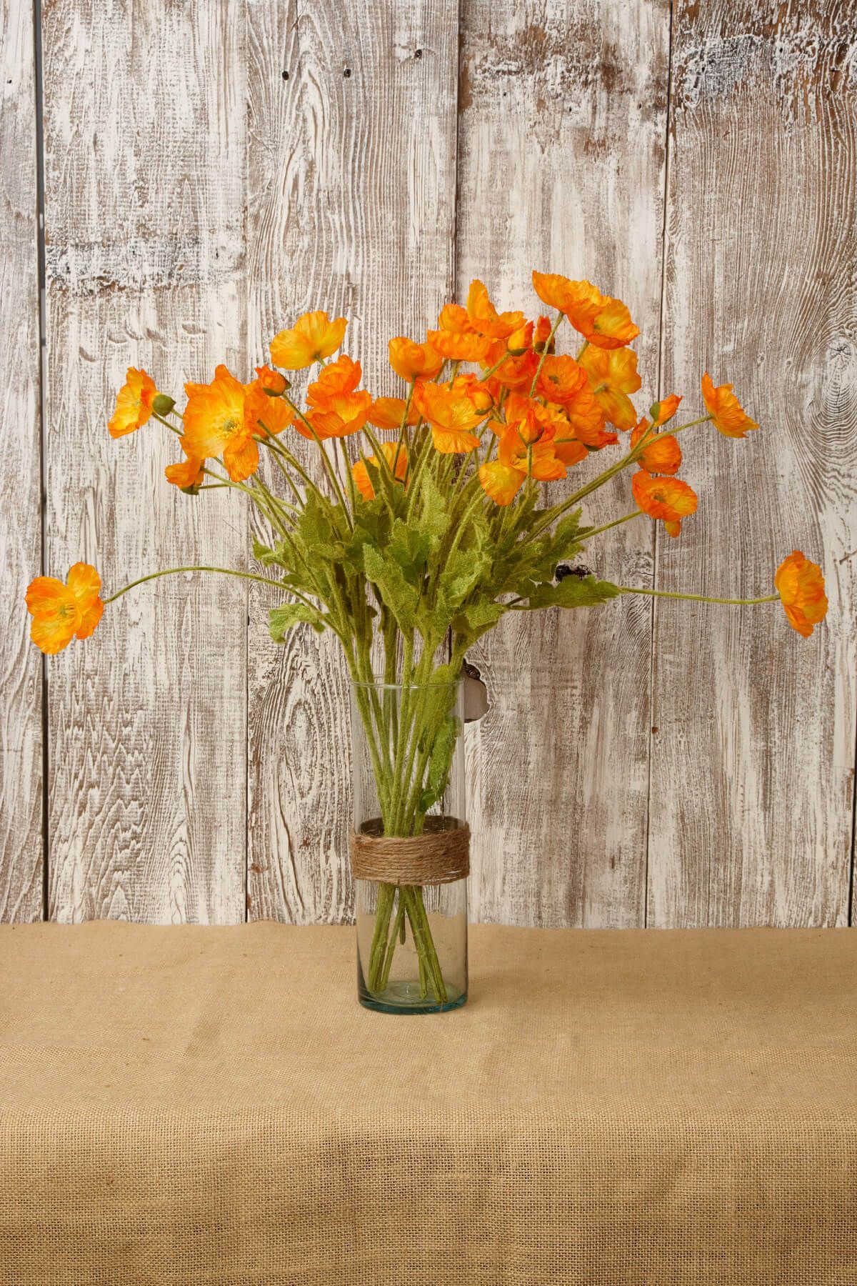 Silk Orange Poppies Orange Poppy And Sprays
