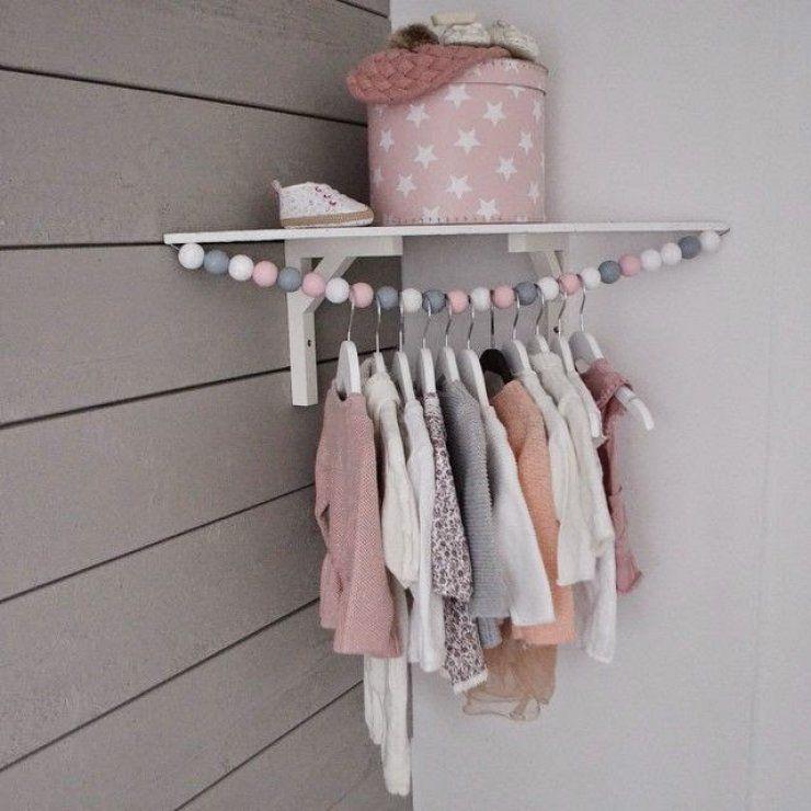 Diy Child Clothes Rack: DIY Cloth Hanger For Kids In The Corner