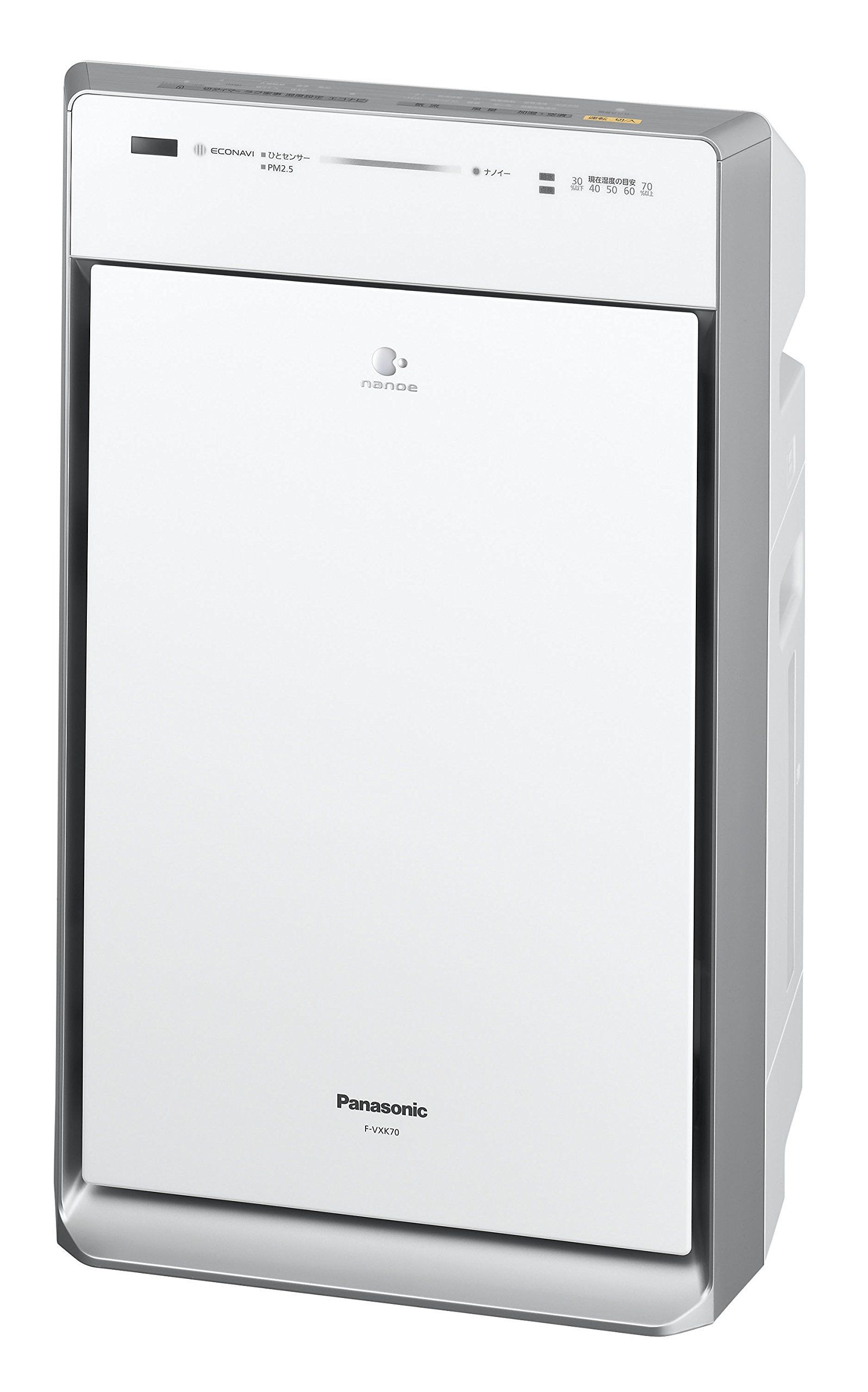 Panasonic ECONAVI × Nanoi humidified air cleaner white