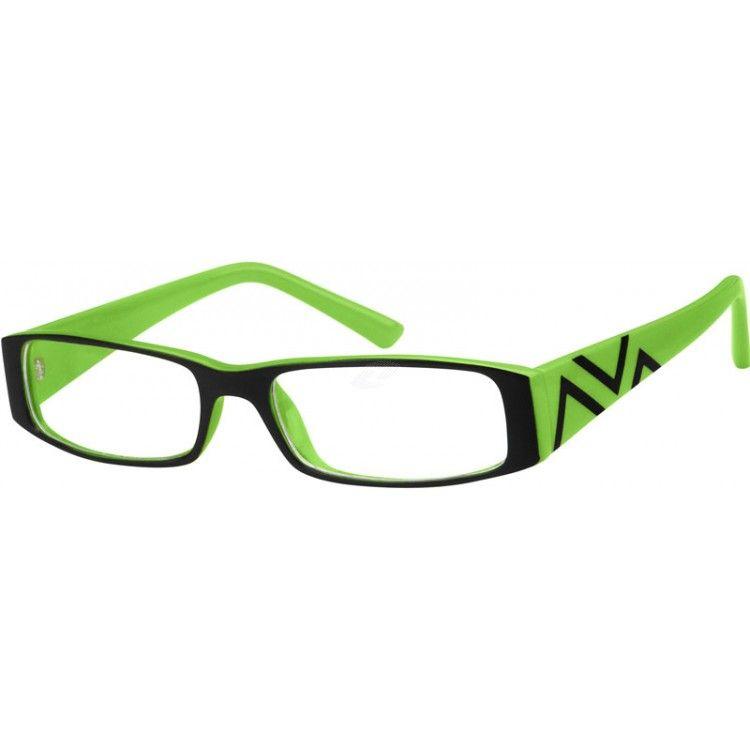 Green Plastic Full-Rim Frame #223824 | Zenni Optical Eyeglasses ...