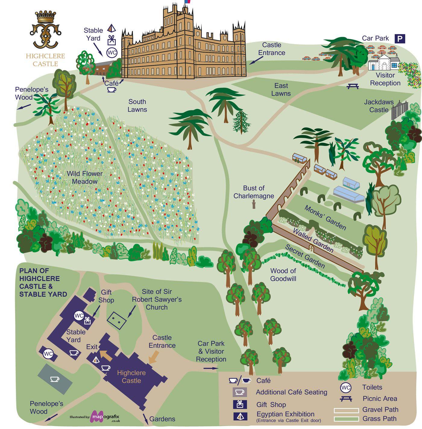 for Highclere castle blueprints
