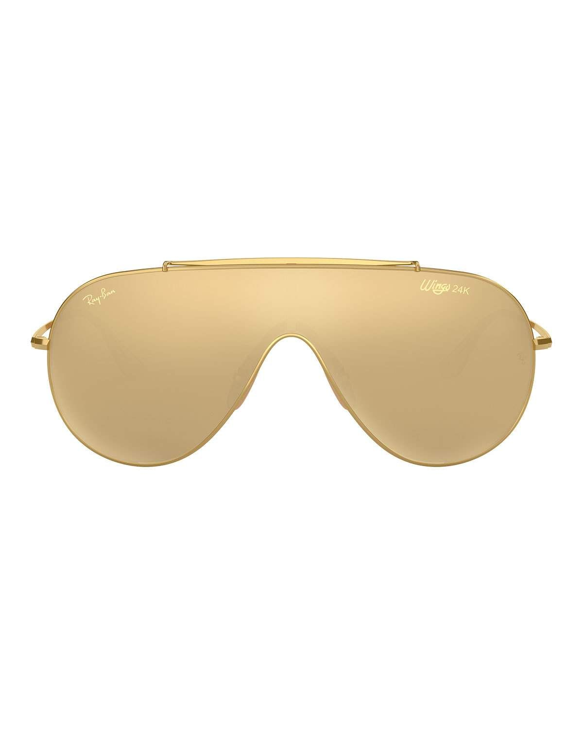 e748a02c35 Ray-Ban Men s Golden Wings Shield Sunglasses
