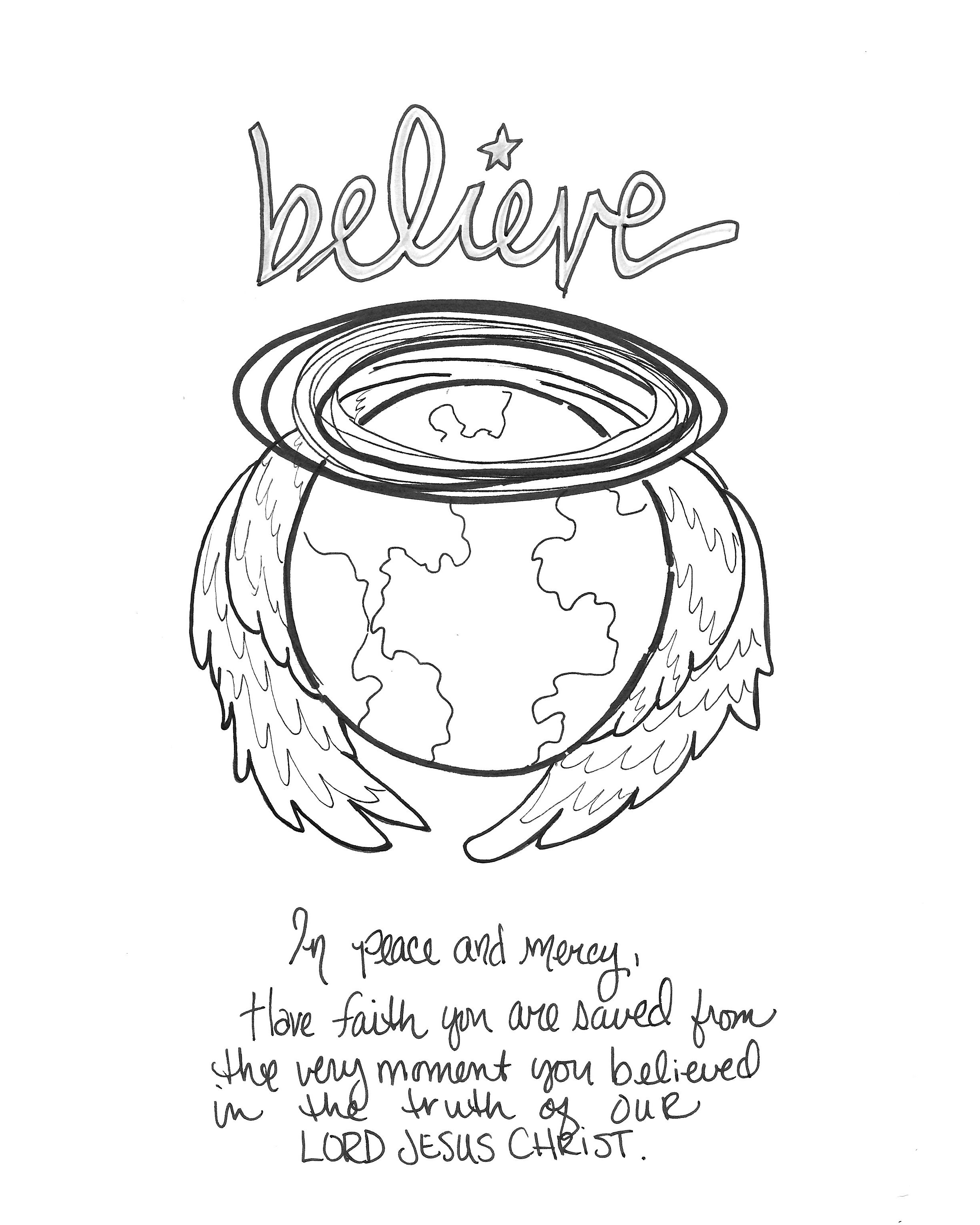 Psalm 91:4 Printable Free 8x10 Coloring Devotions to