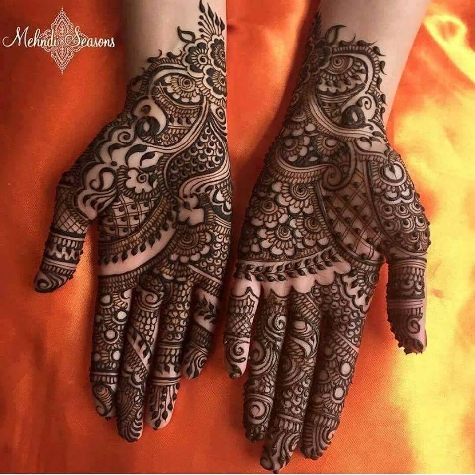 Easy henna mehndi designs full hand