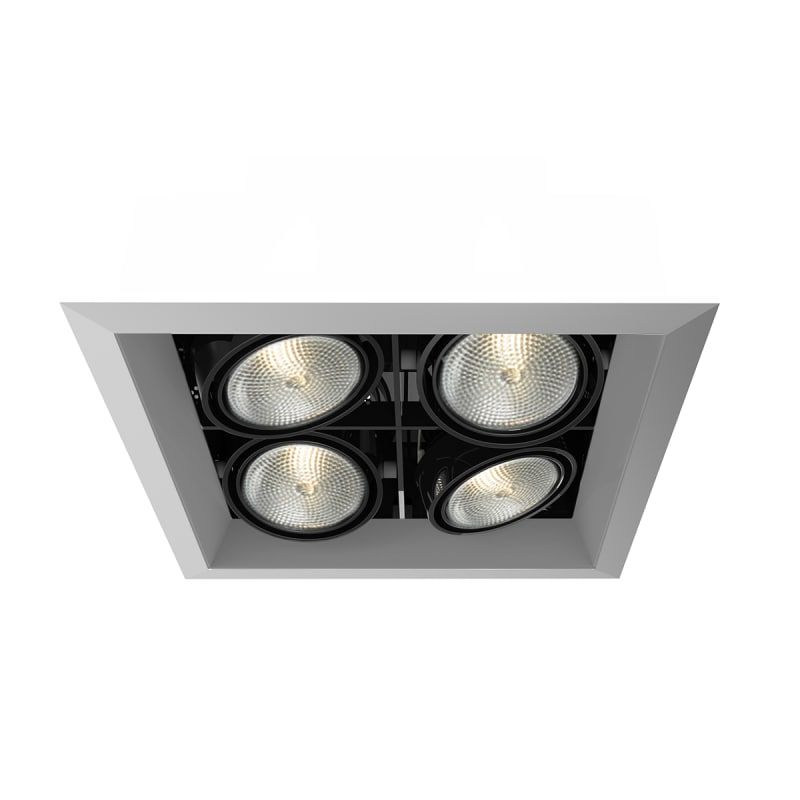 Eurofase Lighting Te164b 0n Platinum Black 4 Light 10 1 2 Wide Adjustable Square Recessed Trim In 2020 Eurofase Lighting Recessed Lighting Light