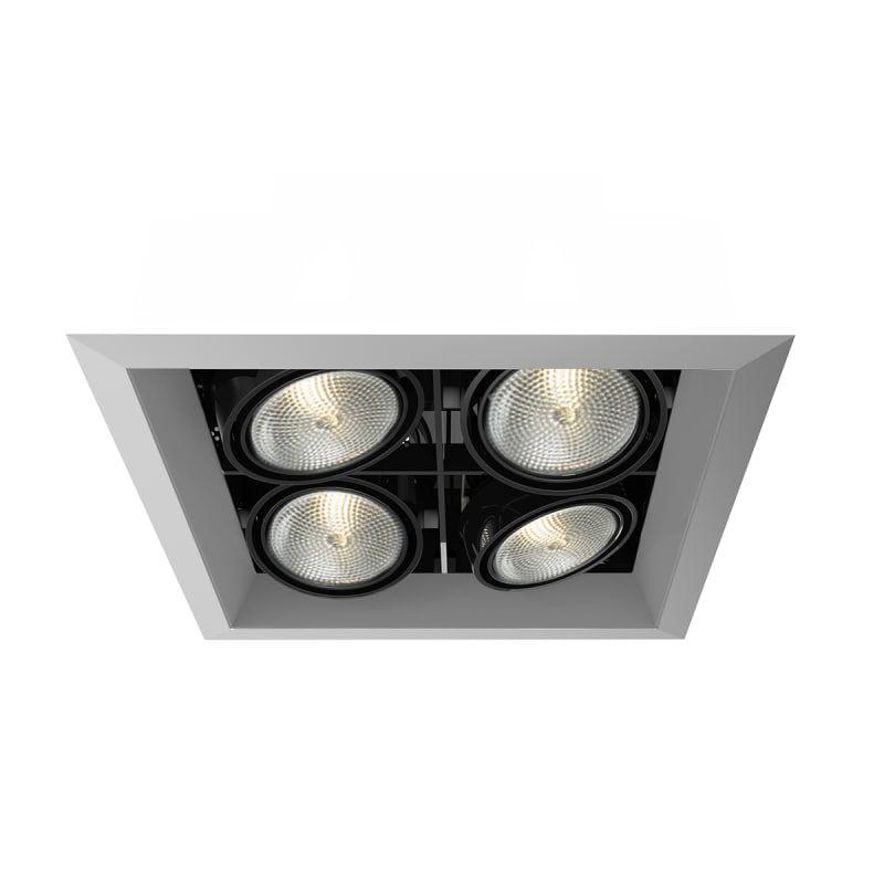 Eurofase Lighting Te164b 0n Platinum Black 4 Light 10 1 2 Wide Adjustable Square Recessed Trim In 2020 Eurofase Lighting Recessed Lighting Light
