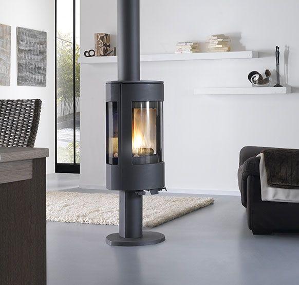 po le bois turbo fonte callisto 2 en fonte gris anthracite appareil quip de deux vitres. Black Bedroom Furniture Sets. Home Design Ideas