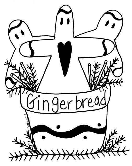 Free Gingerbread Man Pattern | Ginger Stitchery | Pinterest | Pintar ...