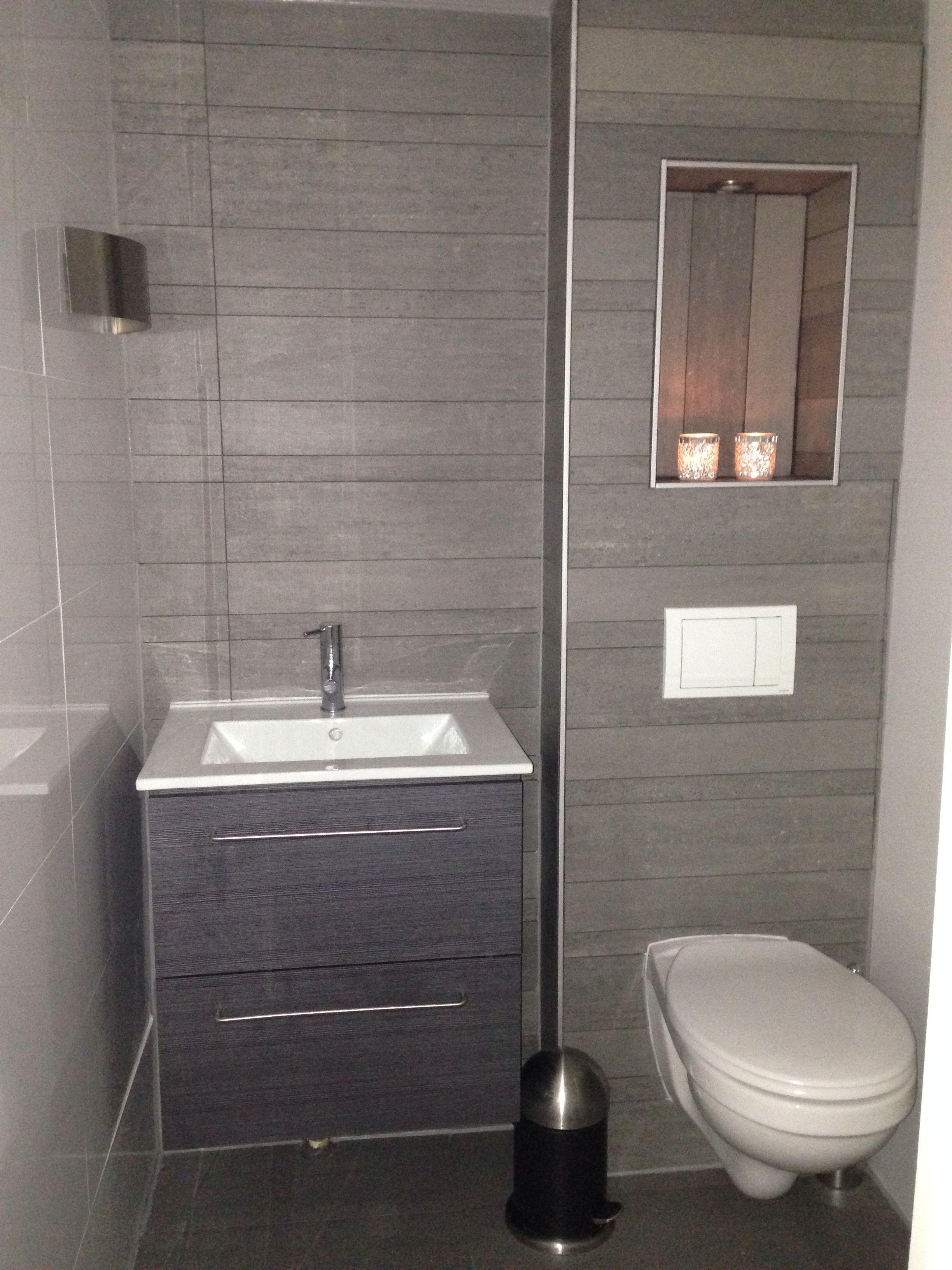 Happy met de nieuwe wc nisje in de muur oostzaan nissen in het huis pinterest - Deco wc zwart wit ...