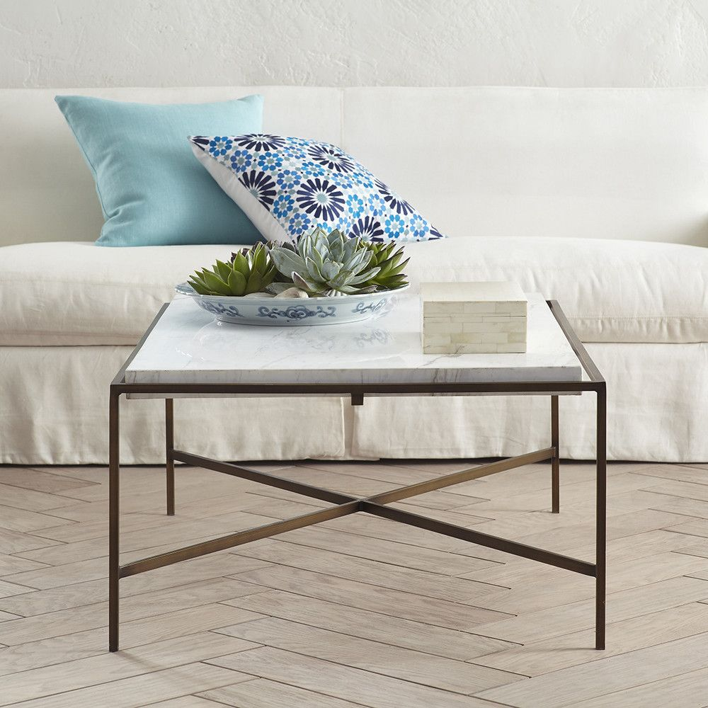 Marble Coffee Table New 46 X 32 X17h Wisteria