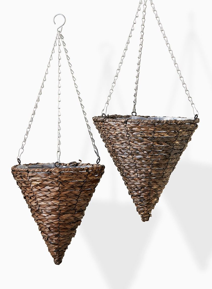 Wood Woven Planters Boxes Barrels Hanging Baskets Hanging Baskets Planter Boxes Rattan Basket