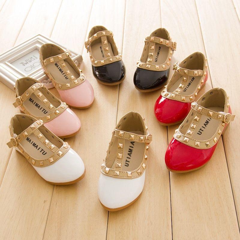Kids Designer Inspired Toddler Rockstud Maryjane Party Shoes in ...