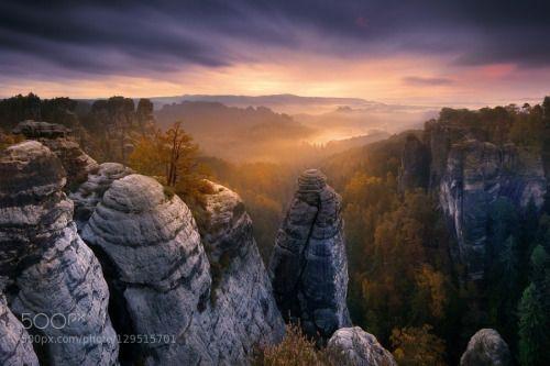 Bastei by fixwienix  Deutschland Morning Mountains Sachsen Saxon Sunrise Sächsische Schweiz Bastei fixwienix