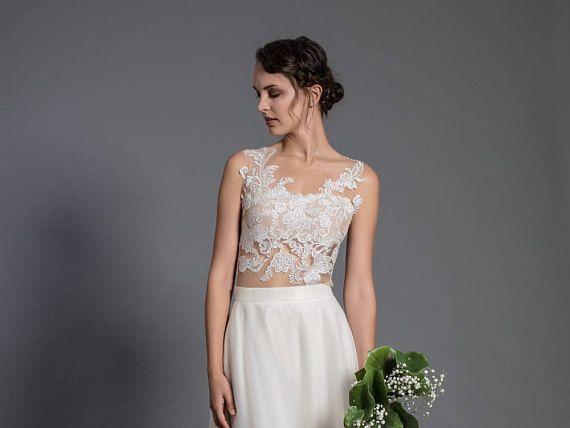 Lace Wedding Bodysuit Romantic Lace Blouse Tight Fitting Lace Top Wedding Bodysuit Bridal Top Weddi Lace Top Wedding Romantic Lace Blouse Bridal Tops