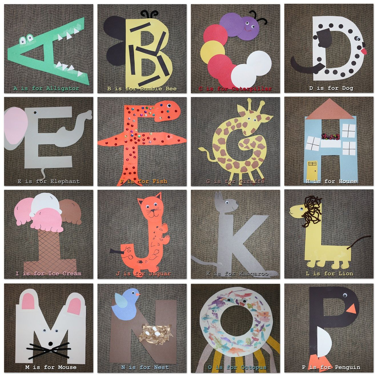ABC Crafts For Preschool. 1st Part Of Alphabet