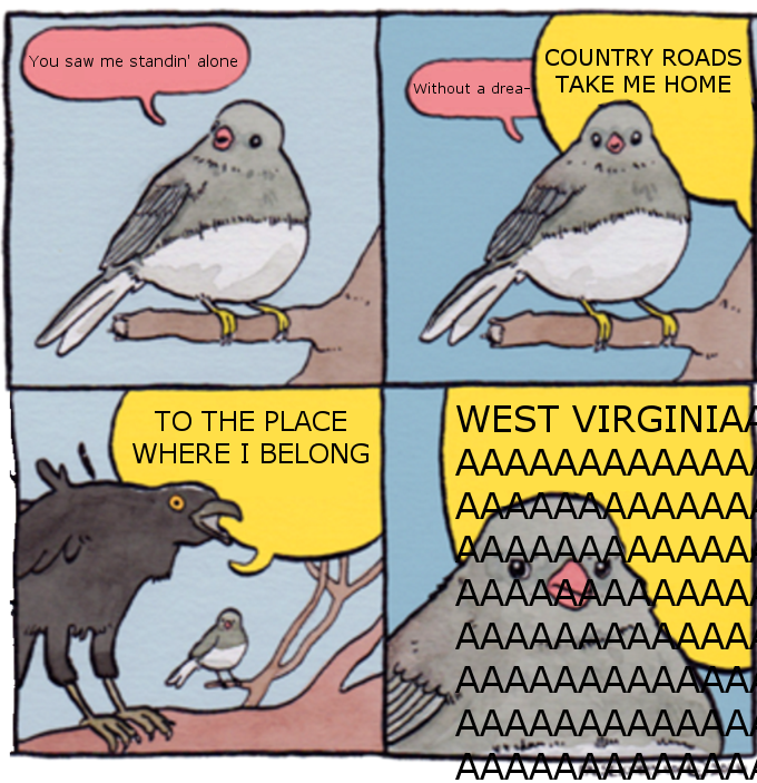 A Fallout Discord Server I Frequent After E3 Take Me Home Country Roads League Of Legends Memes Funny Pictures Bird Meme