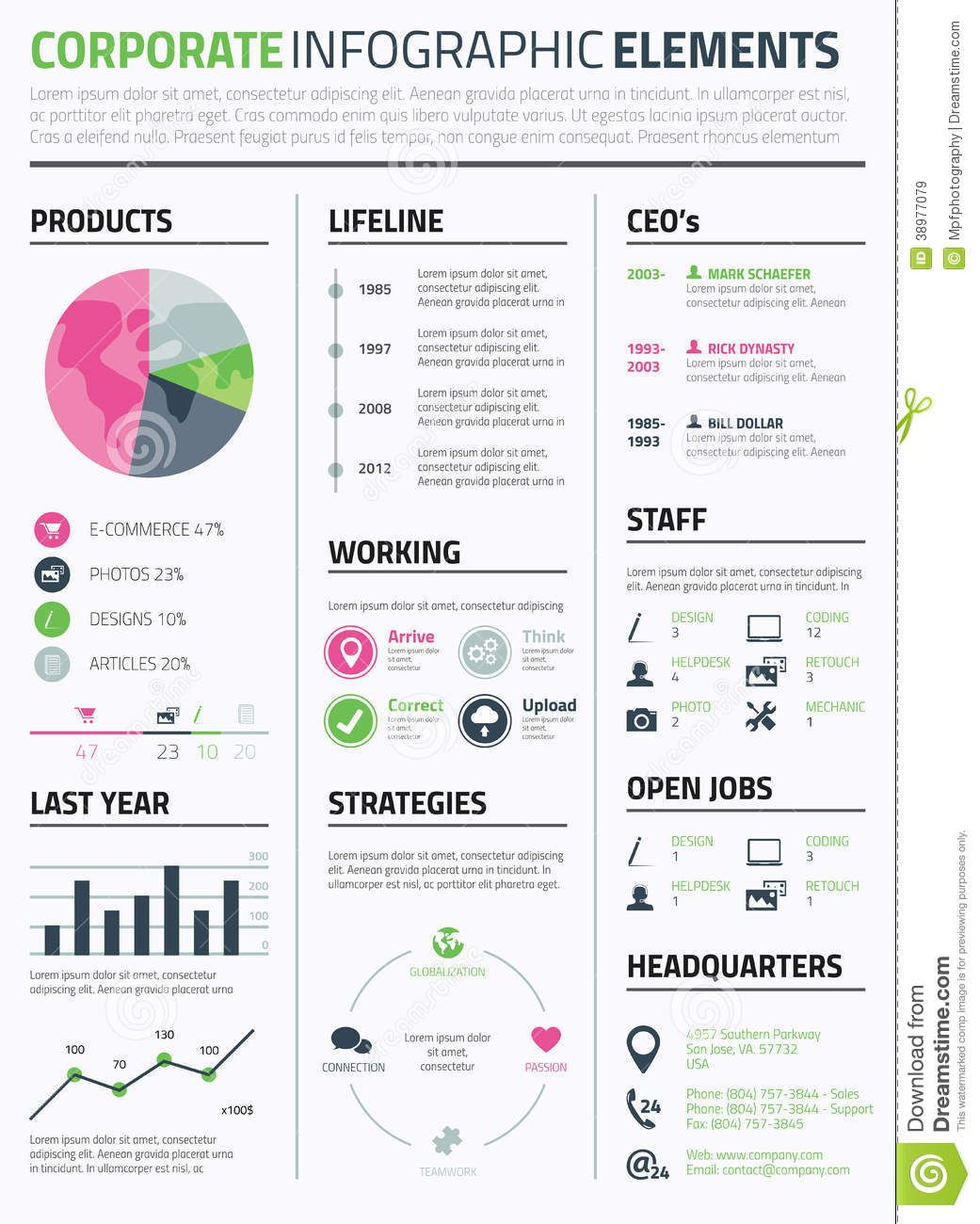 Corporate Infographic Resume Elements Template To Display Data Vector Infographic Resume Management Infographic Infographic