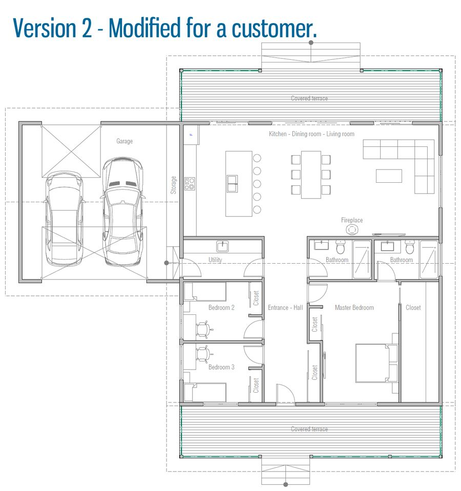 House Design House Plan Ch598 30 Building Plans House New House Plans Small House Floor Plans