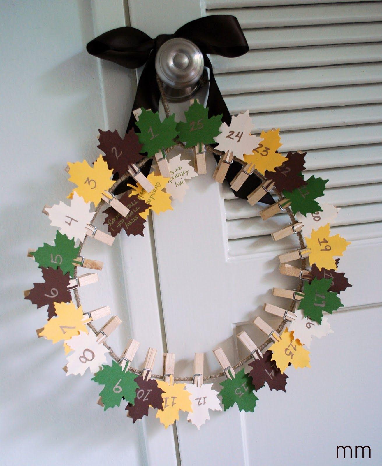 Thanksgiving Countdown Wreath Thanksgiving countdown