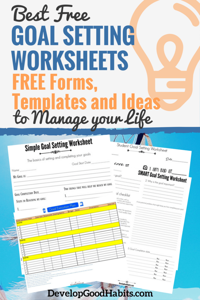 Free Goal Setting Worksheets  Free Forms Templates And Ideas