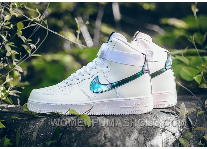 NIKE AIR FORCE 1 HI LV8 IRIDESCENT 806403 100 White Green