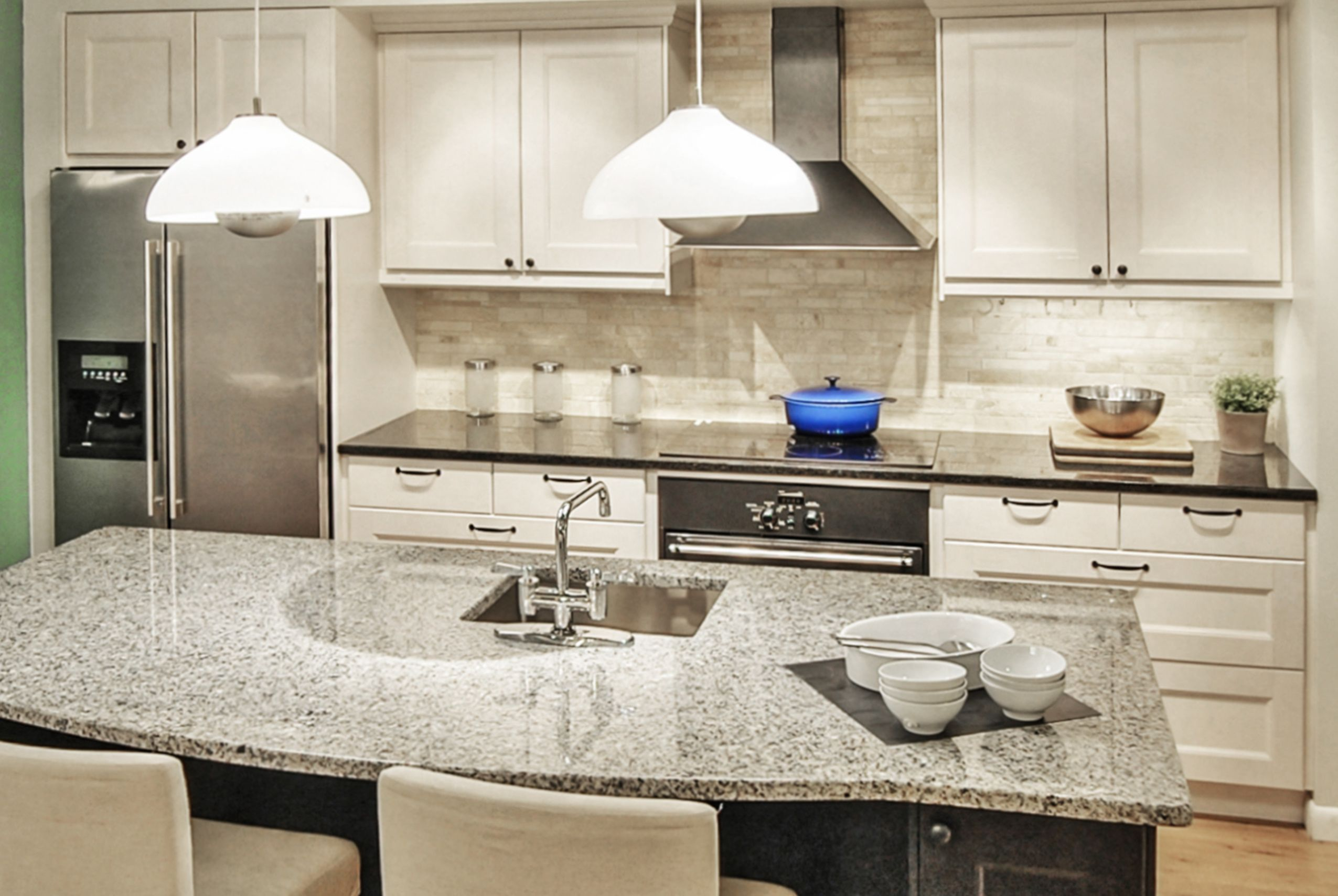 Ikea Kitchen With The Gorgeous Glass Cabinets And Butcher Block Description From Pinterest Com