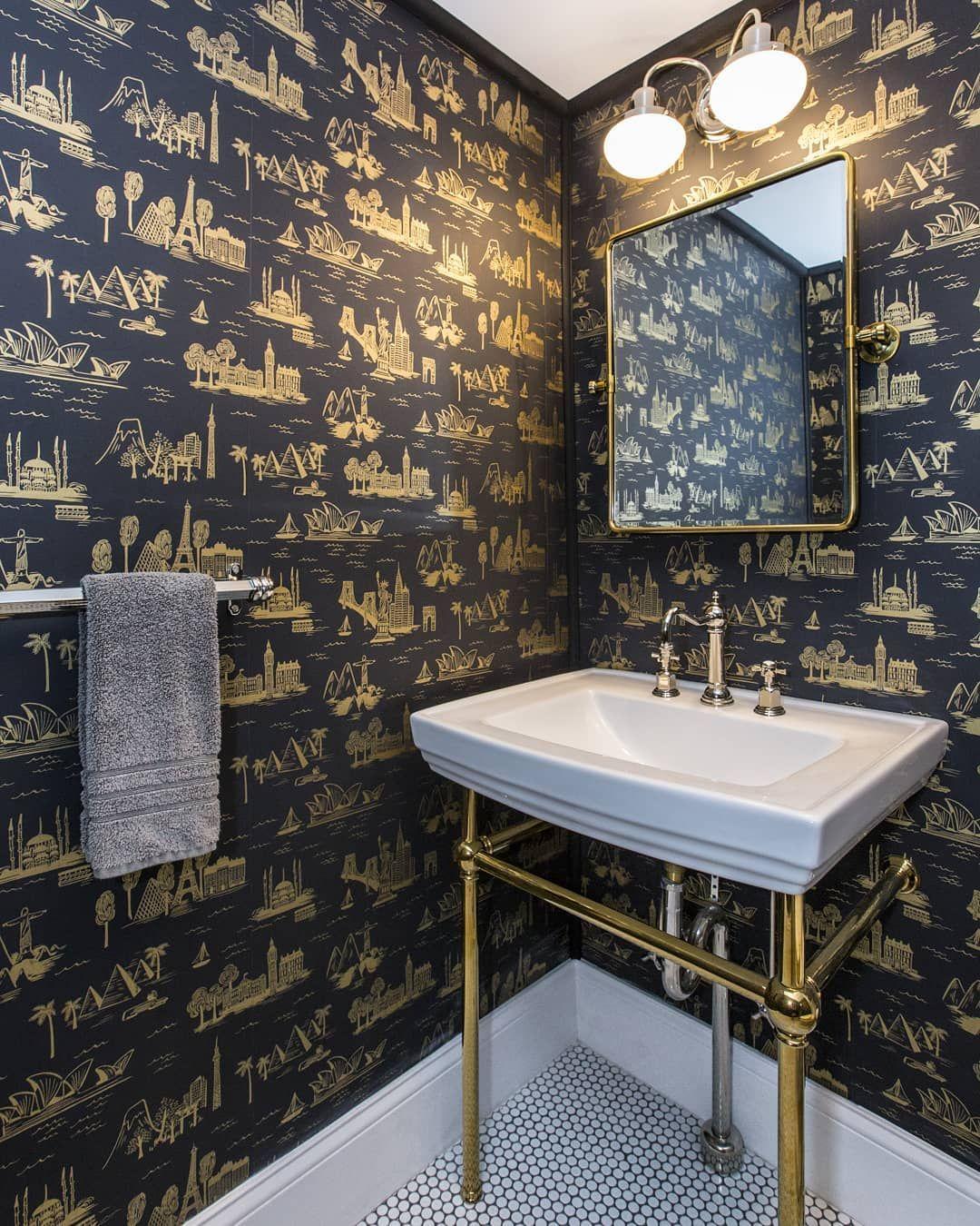 Bathroom Wallpaper Inspiration Paulinahospod Bathroomdesign Bathroomdecor Bathroomwallp Small Bathroom Paint Hospital Interior Design Purple Bathroom Decor