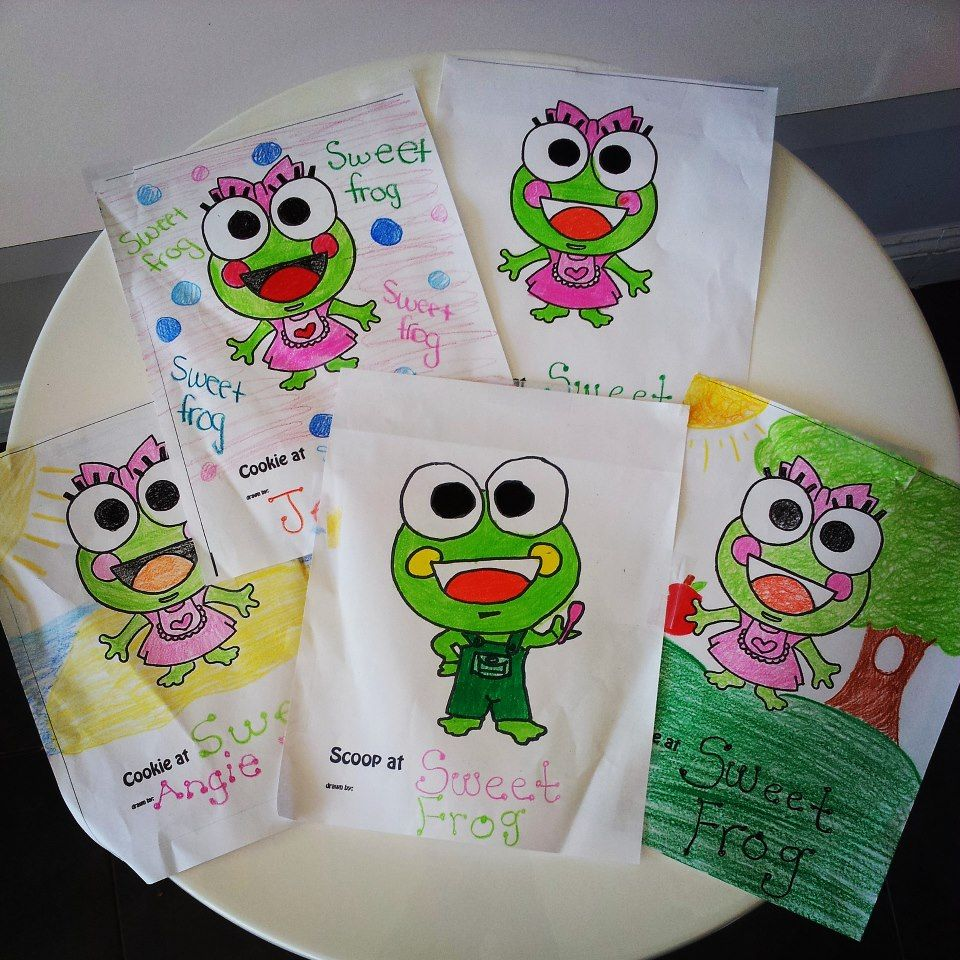 Scoop And Cookie Coloring Pages Sweet Frog Frog Froggy