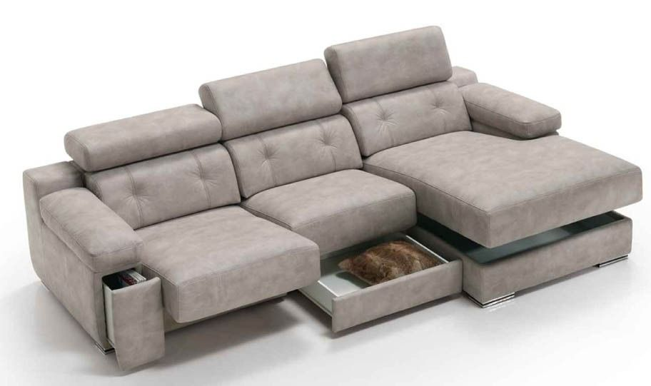 Sof modelo trans de piel confort con gran capacidad de for Sofa con almacenaje