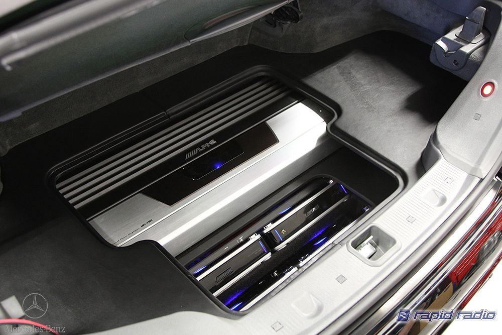 Part of the finished Alpine F1 audio installation in the