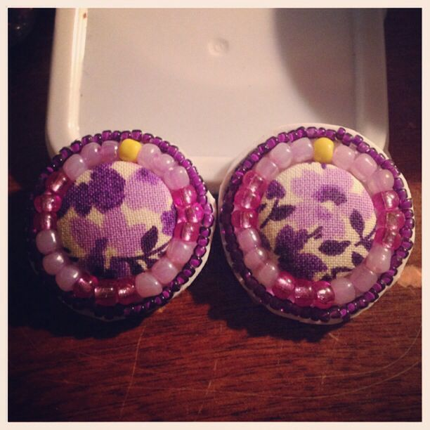Beaded buttons!!!