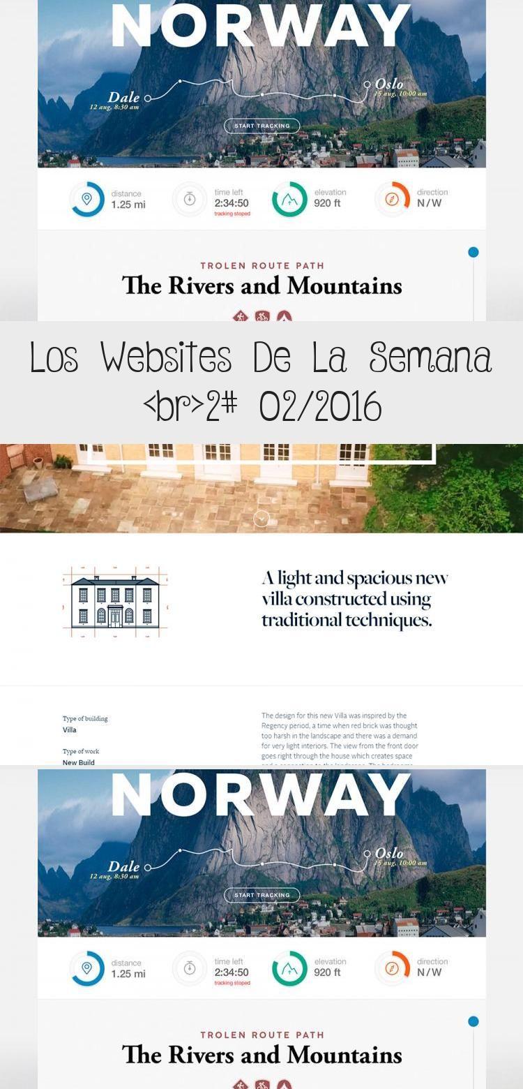 Los Websites De La Semana 2 02 2016 In 2020 Web Design Websites Web Template Design Norway Oslo