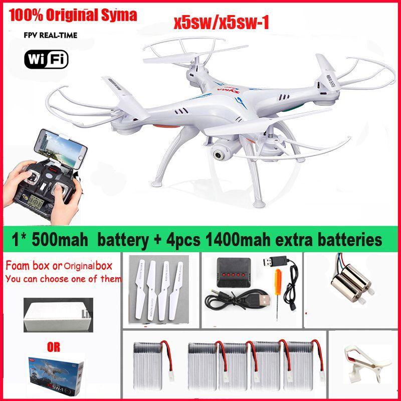 D Origine Syma X5sw X5sw 1 Fpv Quadcopter Wifi Drone Avec Camera Sans Tete En Temps Reel A Distance D Helicoptere De Controle Rc Fpv Quadcopter Quadcopter Fpv