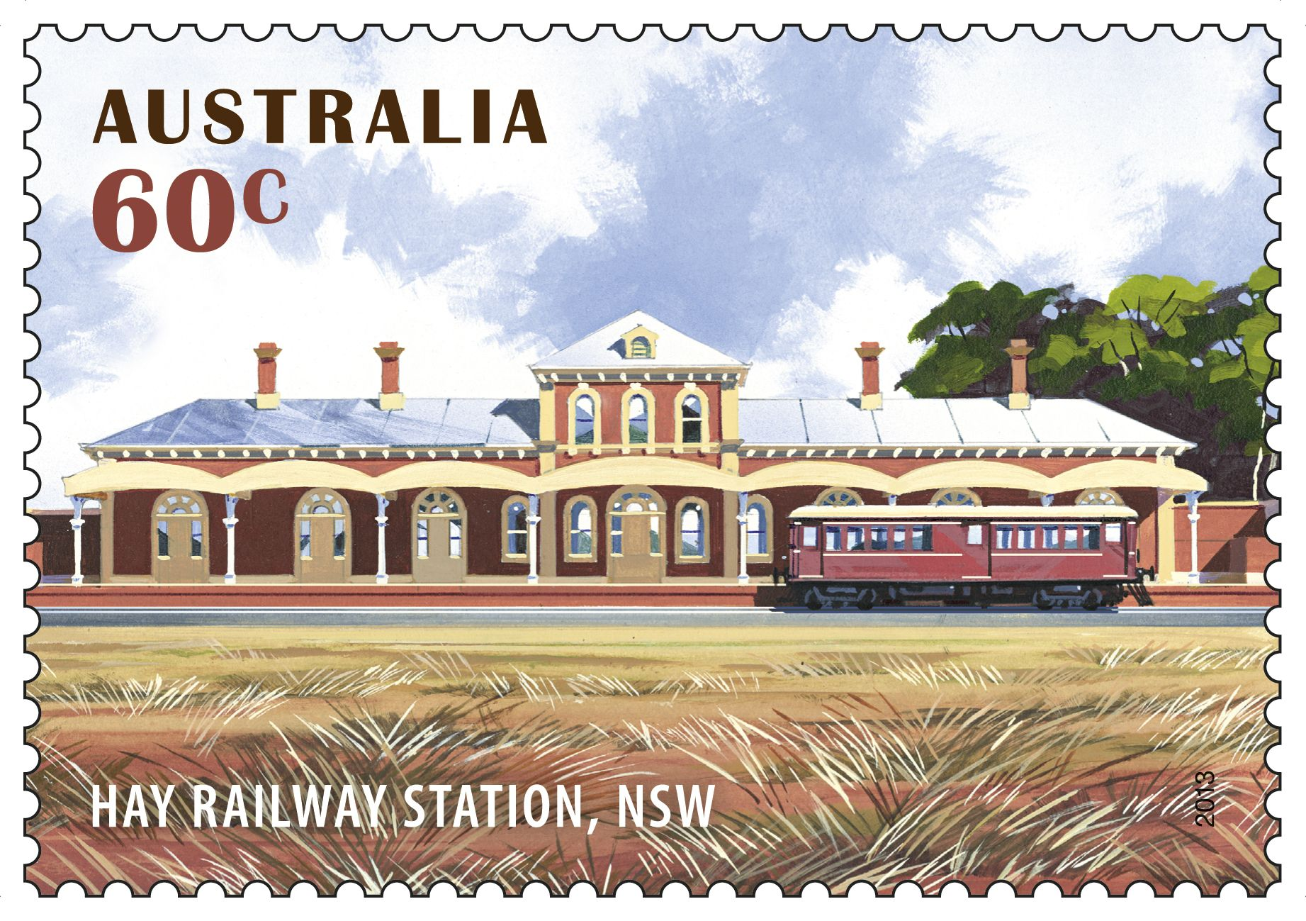 Our #stamp shows Hay Railway Station in NSW, which opened in 1882