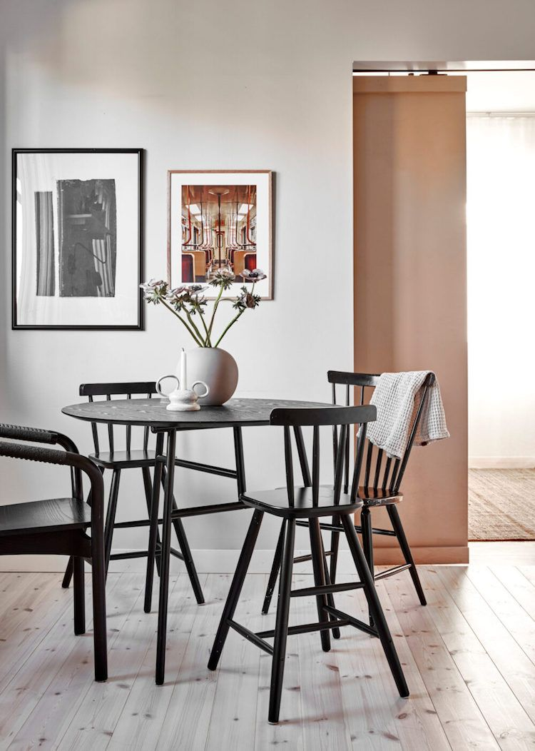 My Scandinavian Home A Charming Gothenburg Family Home Gets A Last Hurrah My Scandinavian Home Minimalist Dining Room Painted Coffee Tables Charming scandinavian dining room