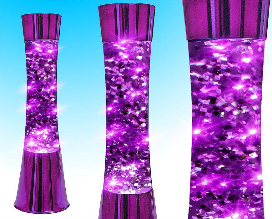 Purple Lava Lamp Funky Retro Concave Purple Glitter Lava