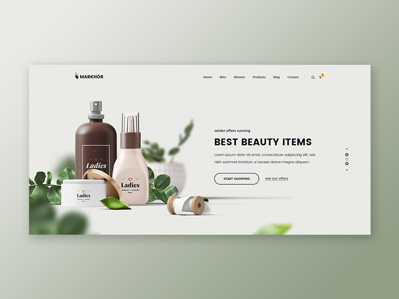 Markhor Beauty Shop Facebook Cover Design Promotional Design Shop Banner Design